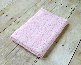 Flannel Receiving Blanket - Girl Swaddle Blanket - Newborn Baby Girl Gift - Pink Stars Flannel Receiving Blankets  - Ready to Ship
