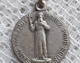 St Walfroy  - Antique French Religious Medal signed TAIRAC