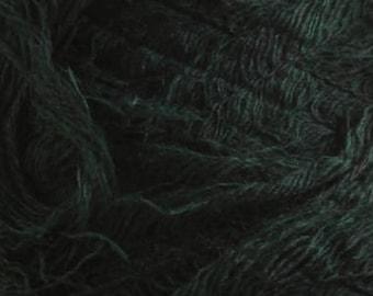 Fleecy yarn acrylic yarn on a cone bobbin yarn knitting yarn crochet yarn hand knitting yarn grass yarn green yarn downy yarn furry fiber
