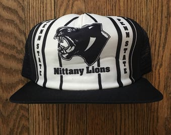 pretty nice 3b77a ceaa2 ... best price vintage 80s 90s penn state nittany lions new era pro design  ncaa mesh trucker