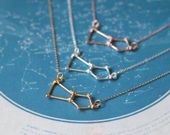 Gold Orion necklace - Orion Constellation Necklace - constellation pendant