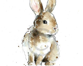BUNNY REPRODUCTION PRINT
