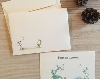 5 cards holiday - free shipping
