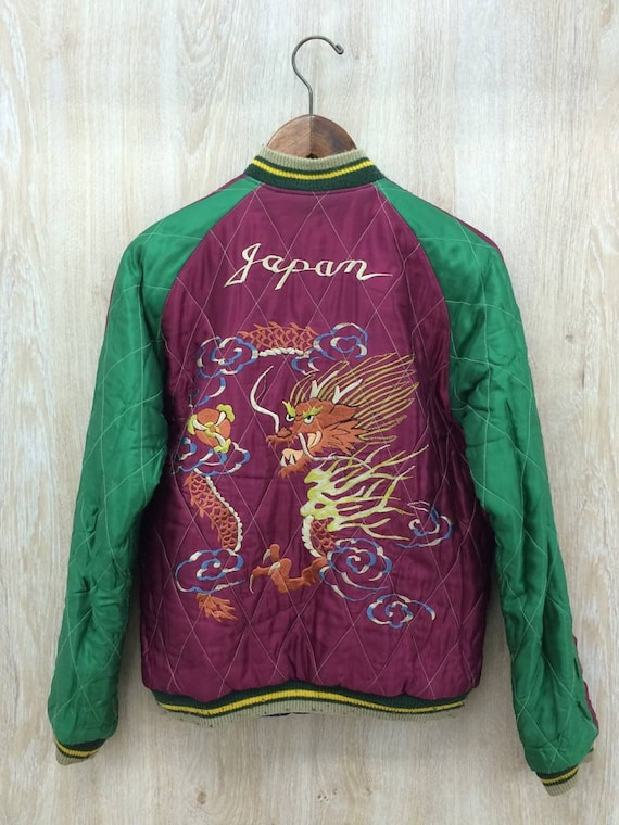 Sukajan Enterprise Sukajan Souvenir Reversible x Dragon Jacket Japan Jacket Embroidery Tiger Yokosuka Medium Souvenir Toyo 51dSwqx5