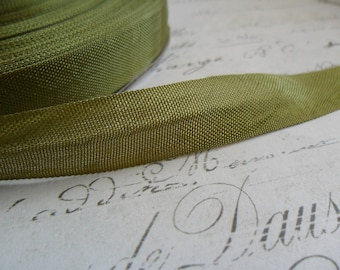 Army Green Vintage Seam Binding Ribbon