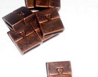 Two Magnetic Clasps- Copper Hearts