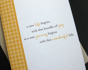 welcome little one baby greeting card