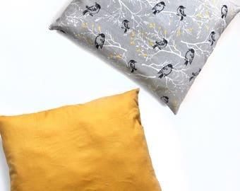 Decorative pillow, Multi colored, reversible pillow, birds, throw pillow, decorative pillow, accent pillow