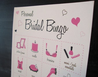 Personal Bridal Shower Bingo Cards - Set of 20