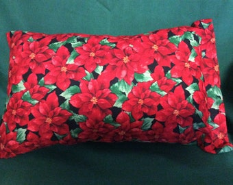 Poinsettia Pillow with removable cover