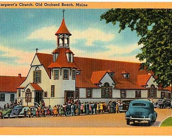 Vintage Maine Postcard - St. Margaret's Church, Old Orchard Beach (Unused)