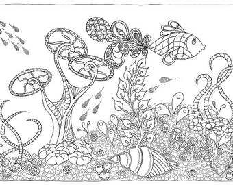 Fantail Fish - Colouring Sheet