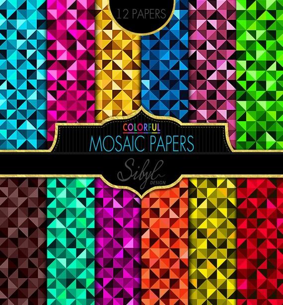 60 % Rabatt Verkauf geometrische digitales Mosaik Scrapbook