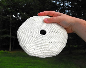 Glow In The Dark Frisbee Crochet Pattern PDF Crocheted Toy Ball