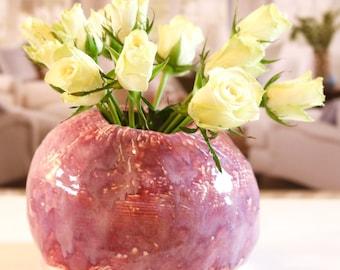 thistle flower vase