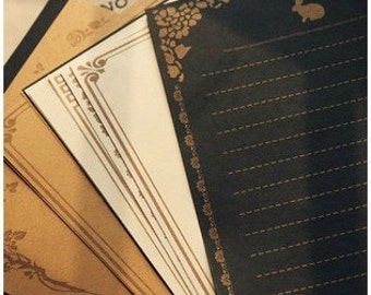 3 Sets Kraft Paper Letter Writing Paper Sets-European lace