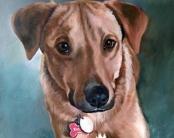 Dog portrait, Oil painting, Custom pet portrait, original, animal portrait ,pet lover painting, handmade, dog painting, oil on canvas, doggy