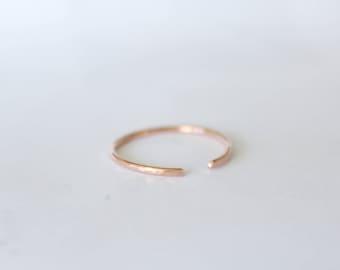 Solid 14k Rose Gold Band, 14k Rose Gold Wedding Band, Gift for Her, Wedding Band, Rose Gold Wedding Band, Rose Gold Ring, Minimalist Ring