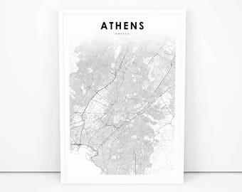 Greece map Etsy