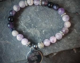 Amethyst bracelet, Custom Bracelet, personalized bracelet, Couples Bracelet, Wiccan Jewelry, Anxiety Relief, Mindfulness bracelet, Gift idea