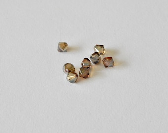 6mm Smoked Topaz Swarovski™ Crystals