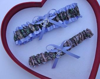 New  Mossy Oak Iris Camouflage Camo Wedding Garter Prom GetTheGoodStuff