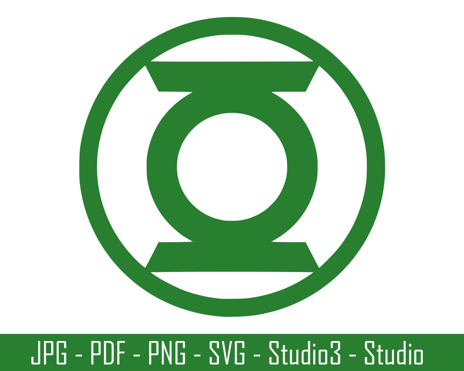 Green Lantern DC Comics Green Lantern Logo Superhero Cut