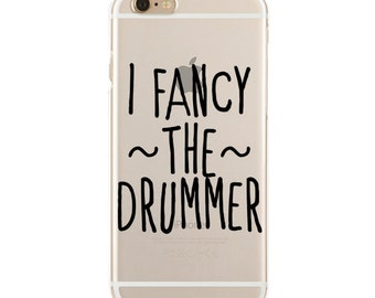 I Fancy The Drummer - Slim & Transparent case for iPhone - by HeartOnMyFingers - SLIMCASE-067