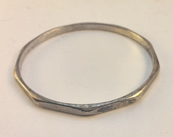 Metal Bracelet Bangle from Industrial & Architectural Salvage, Slightly Oxidized, Minimalist, Unisex