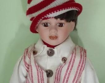 "Vintage 16"" Porcelain Head/Shoulder, Lower Arms & Legs, Cloth Body Unmarked Doll (Schneider??)"