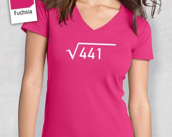 21st Birthday, 1997 Square Root, 21st Birthday Idea, Women's V-Neck, 21st Birthday Present, or Birthday Gift, For The Lucky 21 Year Old!