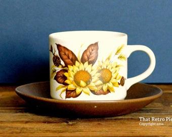 Johnson of Australia 'Sherbrooke' teacup/saucer set (c. 1978-79)
