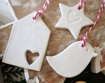 Christmas/ Yule Clay Decorations
