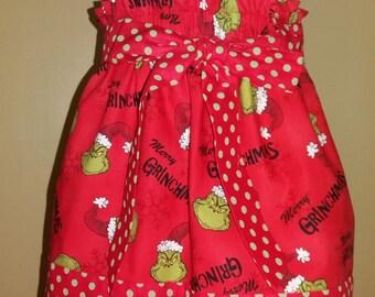 Meloney's Design handmade girl Grinchmas size 5t skirt