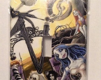 tim burton single switch plate cover