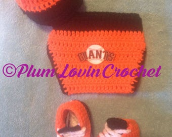 Crochet San Fransico Giants inspired outfit