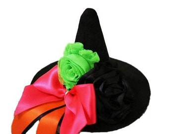 Witch Hat, Mini Witch Hat, Infant Witch Hat, Halloween Witch Hat, Adult Witch Hat, Halloween Photo Prop, Baby Witch Hat, Childs Witch Hat