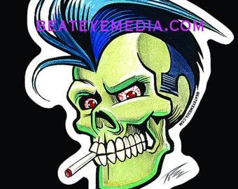 Pizz,STICKER,TATTOO,sticker,MONSTER,monsters,demon,comic art,comic,punk,punk rock,skull,skulls,greaser,rockabilly,hot rod,rat fink,ed roth