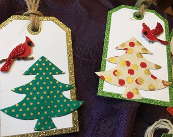 Christmas gift tags - Set of 7