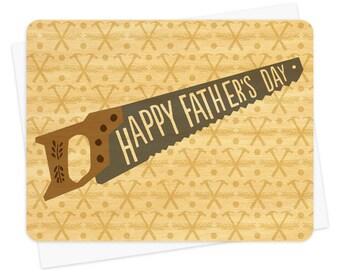 tool time real wood father's day card - unique keepsake card for dad - wc884