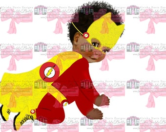 Three Flash Super Baby Digital Download PNG High-Resolution 300dpi PNG Image/s.