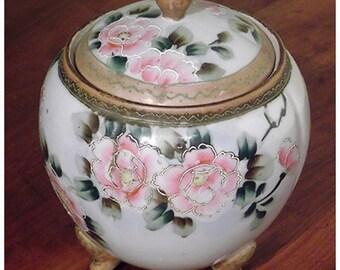 Nippon Biscuit Jar.  Circa 1900