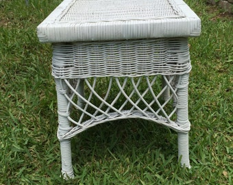 Wicker table White