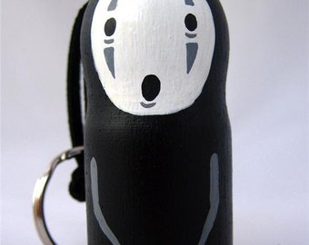 Spirited Away NO FACE / Faceless Studio Ghibli doll key chain rings 2