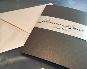 Wedding Invitation Pocket Folder