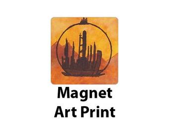 My Childhood, My Home | Doctor Who Gallifrey Art Print Magnet