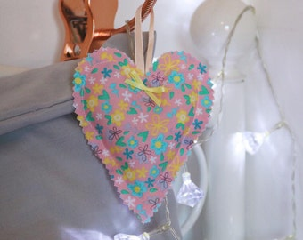 Cotton Fabric Hanging Heart