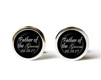 Father of the Groom Cufflinks, Wedding Cufflinks, Photo Cufflinks, Custom Cufflinks, Gift from Bride, Keepsake Cufflinks, Dad Cufflinks