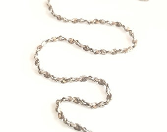 "17"" silver rope chain necklace"