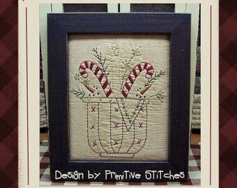Holiday Snowball Basket-Primitive Stitchery E-PATTERN by Primitive Stitches-Instant Download